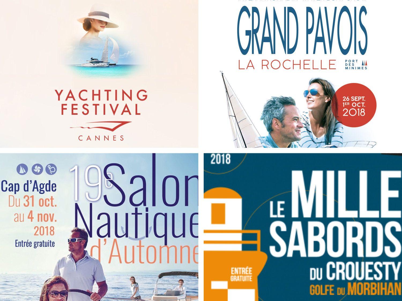 Salons nautiques d'automne : Cannes Yachting Festival, Grand Pavois de la Rochelle, Salon du Cap d'Agde, Mille Sabords du Crouesty