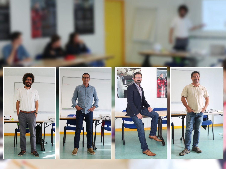 Quatre professionnels du nautisme venus présenter leur activité aux stagiaires Techni-co