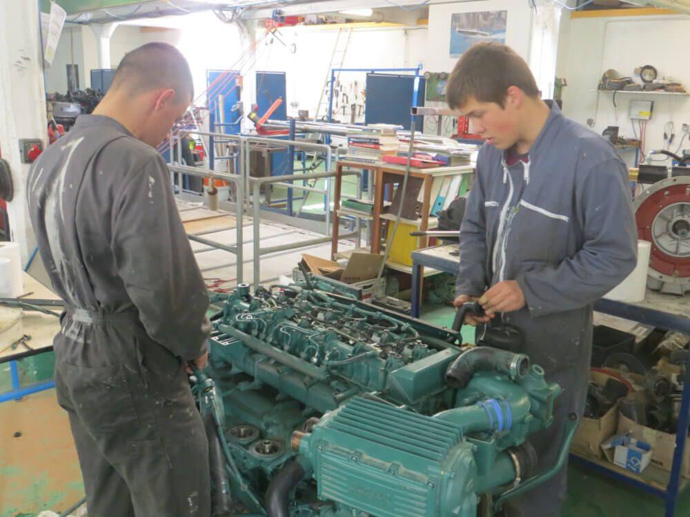 L'INB Côte d'Azur obtient aujourd'hui son agrément pour faire passer le brevet de mécanicien 250 kW
