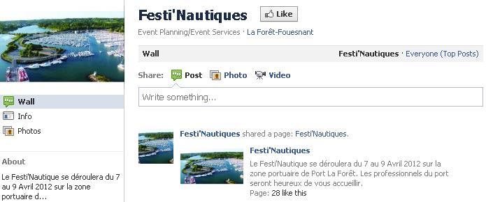 festinautiques sur facebook